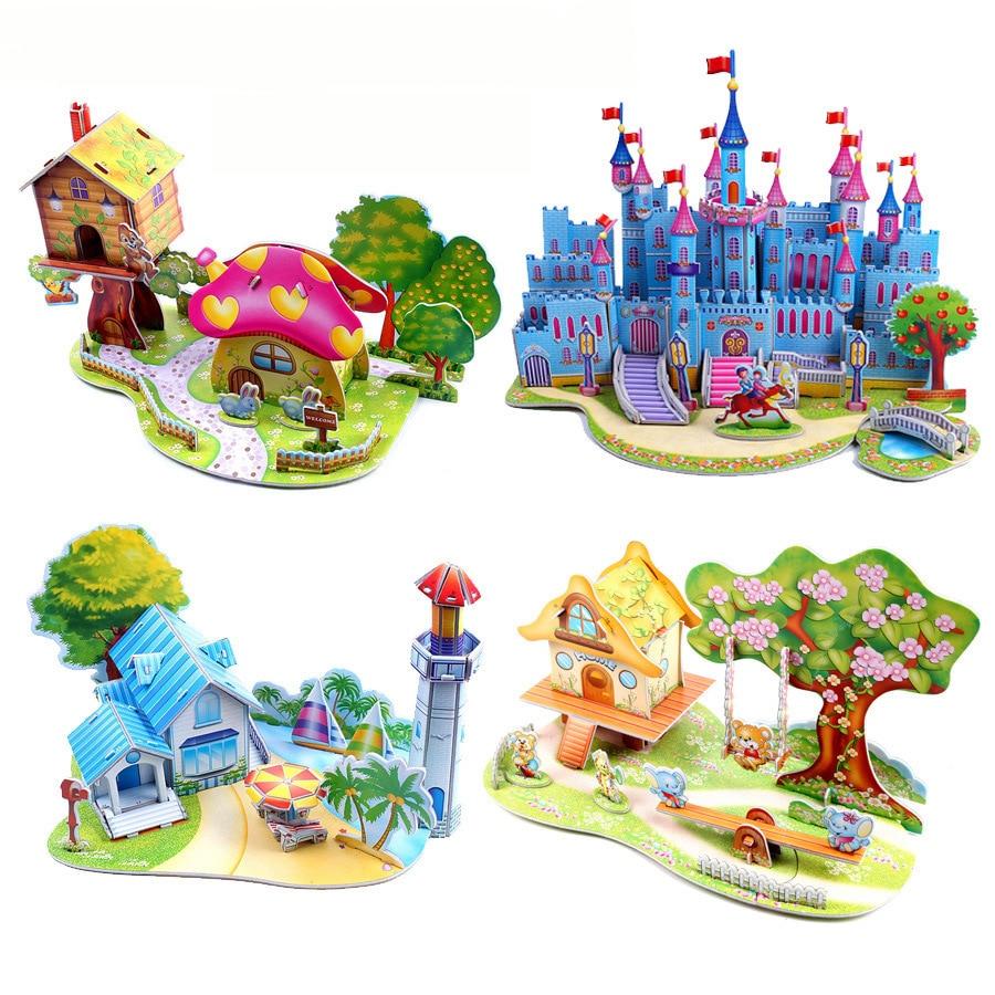 Cute Entertaining Colorful Paper 3D Puzzle