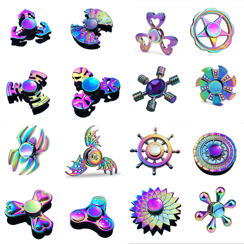 Metal Rainbow Anti-Anxiety Hand Fidget Spinners
