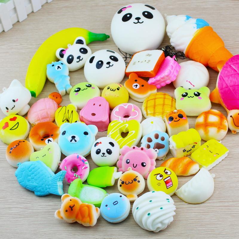 Adorable Animals Fruits Food Mini Squishy Toys Set